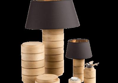 Serie houten urnen