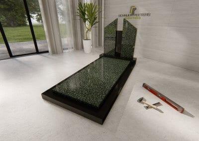 Grafsteen Boschhuizen hassan green en zwart