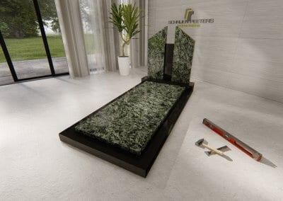 Grafsteen Boschhuizen olive green en zwart