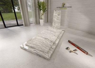 Grafsteen Breedeweg whiscount white