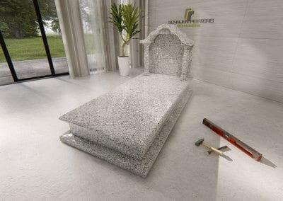 Grafsteen Ledeacker asian white