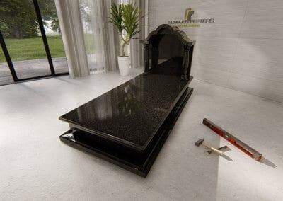 Grafsteen Ledeacker beida black