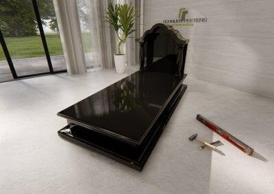 Grafsteen Ledeacker black