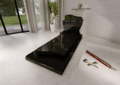 Grafsteen Mook zwart
