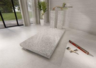 Grafsteen Gennep (asian white)
