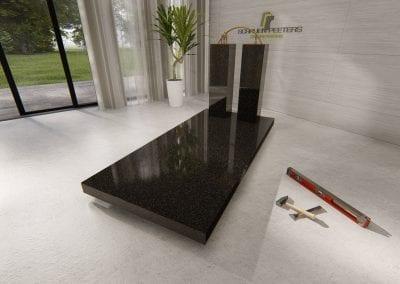 Grafsteen Gennep (beida black)