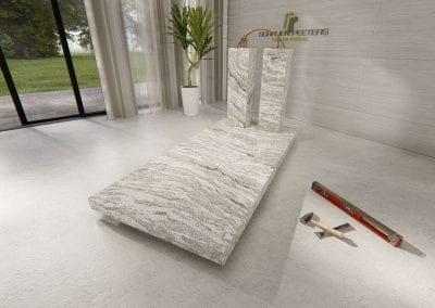 Grafsteen Gennep (whiscount white)