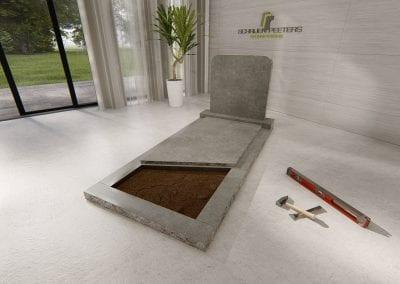 Grafsteen Katwijk (hardsteen) 2
