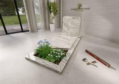 Grafsteen Katwijk (whiscount white)