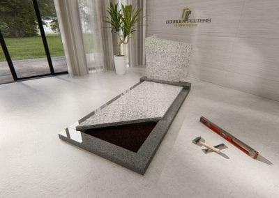 Grafsteen Westerbeek (asian white en daluya grey)